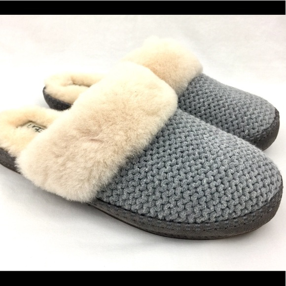 9fa21ba680b Ugg Aira Knit Womens Slippers Size 11 Gray New